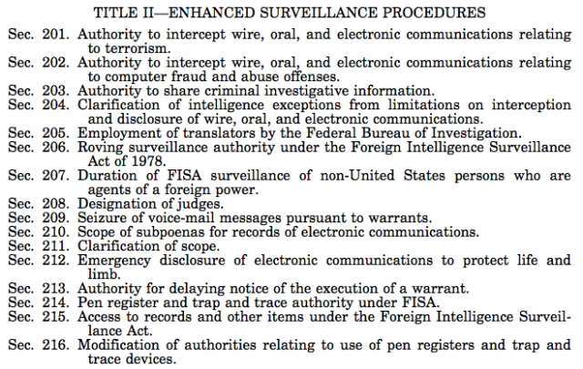 USA Patriotic ACT & FISA